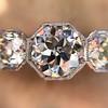 2.90ctw Old European Cut Diamond Trilogy Ring by Single Stone 8