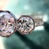 2.90ctw Old European Cut Diamond Trilogy Ring by Single Stone 18