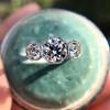 2.90ctw Old European Cut Diamond Trilogy Ring by Single Stone 10