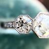 2.90ctw Old European Cut Diamond Trilogy Ring by Single Stone 17