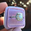 3.24ct Antique Cushion Cut Diamond Halo Ring 36