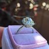 3.24ct Antique Cushion Cut Diamond Halo Ring 35