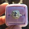 3.24ct Antique Cushion Cut Diamond Halo Ring 21