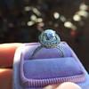 3.24ct Antique Cushion Cut Diamond Halo Ring 28