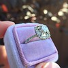 3.24ct Antique Cushion Cut Diamond Halo Ring 31