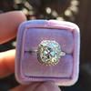 3.24ct Antique Cushion Cut Diamond Halo Ring 37