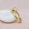 .35ct (est) Green-Gray Pear Rose Cut Chunky Bezel Ring 1