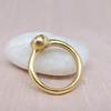 .35ct (est) Green-Gray Pear Rose Cut Chunky Bezel Ring 7