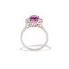 3.52ct Ceylon Pink Sapphire Halo Ring, AGL 4