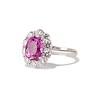 3.52ct Ceylon Pink Sapphire Halo Ring, AGL 1
