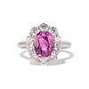 3.52ct Ceylon Pink Sapphire Halo Ring, AGL 0