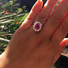 3.52ct Pink Sapphire Halo Ring 18