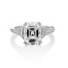 4.25ctw Antique Emerald Cut Diamond Ring, GIA I VVS2