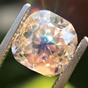4.03ct Light Fancy Brown Antique Cushion Cut Diamond Halo Ring GIA LFB, SI1 0