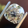 4.03ct Light Fancy Brown Antique Cushion Cut Diamond Halo Ring GIA LFB, SI1 86