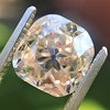 4.03ct Light Fancy Brown Antique Cushion Cut Diamond Halo Ring GIA LFB, SI1 89