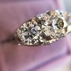 4.37ctw Old European Cut Diamond 3-Stone Ring 12