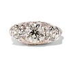 4.37ctw Old European Cut Diamond 3-Stone Ring 0