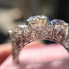 4.37ctw Old European Cut Diamond 3-Stone Ring 19
