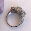4.37ctw Old European Cut Diamond 3-Stone Ring 7