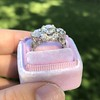 4.37ctw Old European Cut Diamond 3-Stone Ring 11