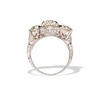 4.37ctw Old European Cut Diamond 3-Stone Ring 2