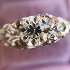 4.37ctw Old European Cut Diamond 3-Stone Ring 8