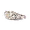 4.37ctw Old European Cut Diamond 3-Stone Ring 1
