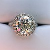 4.80ct Antique Cushion Cut Diamond Ring GIA I SI2 , Anne Marie Setting by Victor Canera 1
