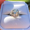 4.80ct Antique Cushion Cut Diamond Ring GIA I SI2 , Anne Marie Setting by Victor Canera 10