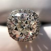 4.80ct Antique Cushion Cut Diamond Ring GIA I SI2 , Anne Marie Setting by Victor Canera 16