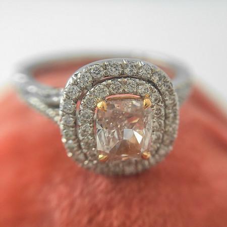 .59ct Light Fancy Pink Diamond Halo Ring by Leibish GIA