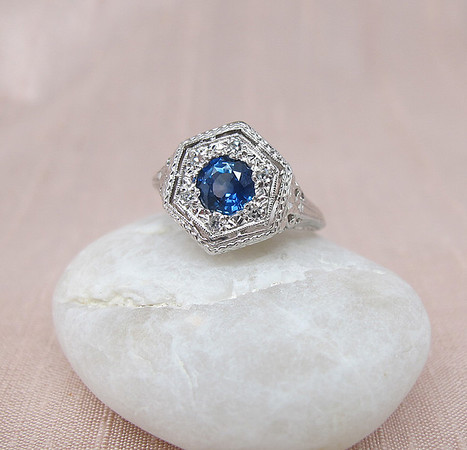 .70ct Sapphire Halo Ring