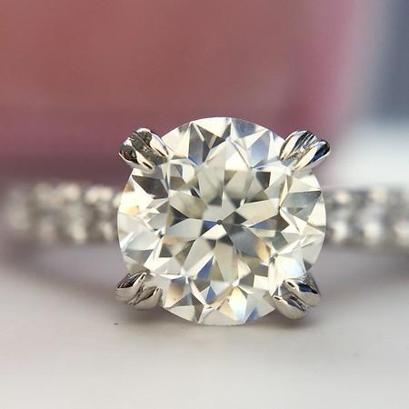 .95ct Old European Cut Diamond Solitaire EGL H VS1
