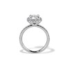 1.59ct Antique Cushion Cut Diamond Halo Ring GIA K VS2 3