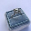 1.59ct Antique Cushion Cut Diamond Halo Ring GIA K VS2 22