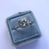 1.59ct Antique Cushion Cut Diamond Halo Ring GIA K VS2 11