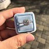 1.59ct Antique Cushion Cut Diamond Halo Ring GIA K VS2 13