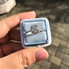 1.59ct Antique Cushion Cut Diamond Halo Ring GIA K VS2 14