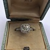 1.59ct Antique Cushion Cut Diamond Halo Ring GIA K VS2 19