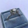 1.59ct Antique Cushion Cut Diamond Halo Ring GIA K VS2 23