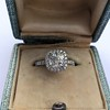 1.59ct Antique Cushion Cut Diamond Halo Ring GIA K VS2 5