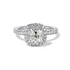 1.59ct Antique Cushion Cut Diamond Halo Ring GIA K VS2 0