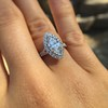 1.21ct Marquise Shape Diamond Halo Ring, GIA G SI1 6