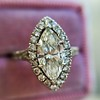 1.21ct Marquise Shape Diamond Halo Ring, GIA G SI1 17