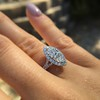 1.21ct Marquise Shape Diamond Halo Ring, GIA G SI1 8
