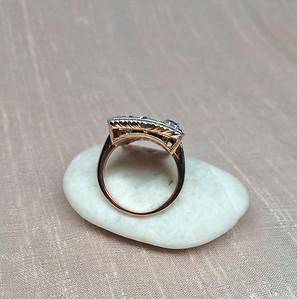 6.50tcw Old Cut Diamond Dinner Ring OC