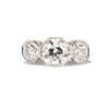 2.79ctw Old European Cut Diamond Octagonal 3-stone Ring 0