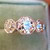 2.79ctw Old European Cut Diamond Octagonal 3-stone Ring 13