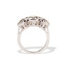 2.79ctw Old European Cut Diamond Octagonal 3-stone Ring 3